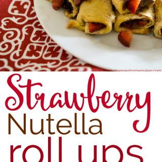 Baked Strawberry Nutella Roll Ups