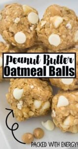 close up picture of peanut butter oatmeal balls