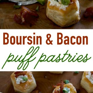 Boursin & Bacon Puff Pastry Bites