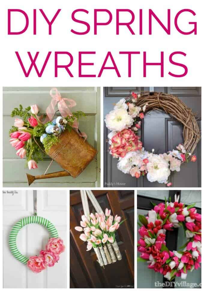20 Beautiful DIY Spring Wreaths that you can make for your home!
