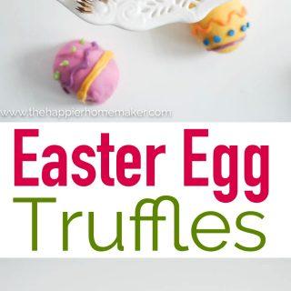 """The words """"Easter Egg Truffles"""" beneath two Easter Egg Truffles"""