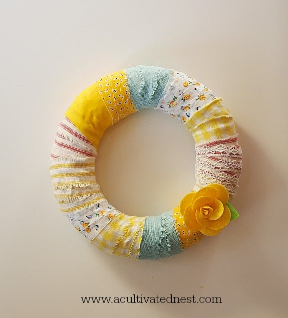 Fabric Spring Wreath