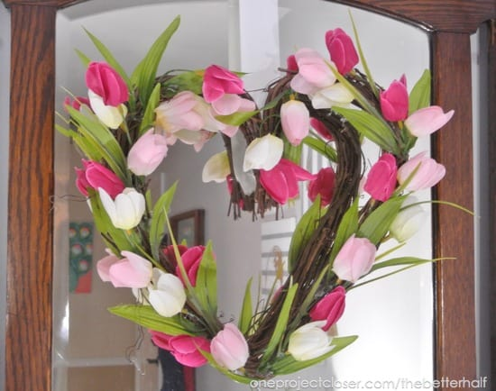 heaert tulip wreath