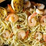 shrimp and lemon in pasta
