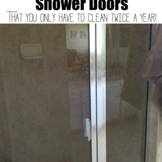 The secret to sparkling shower doors that you only have to clean twice a year-I am so happy to have found this tip-I HATE water spots!