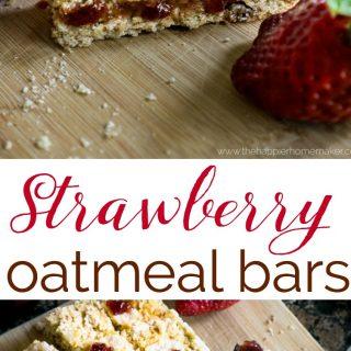 Strawberry Oatmeal Bars