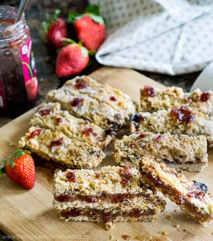 Easy Strawberry Oatmeal Bars are deceptively simple to make-great for breakfast or dessert!