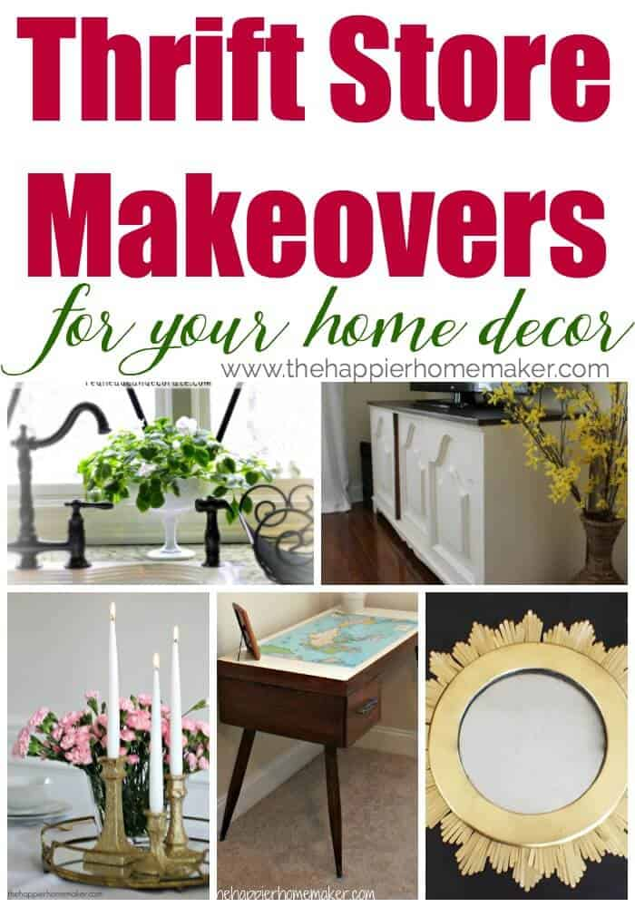 Amazing thrift store transformations-decorate your home on the cheap, so much inspiration here!! Over 100 projects!