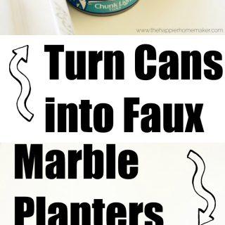 Faux Marble Succulent Planters