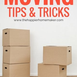 Moving Tips & Tricks from a military mom with over ten moves under her belt! How to stay organized, moving checklists, and more!