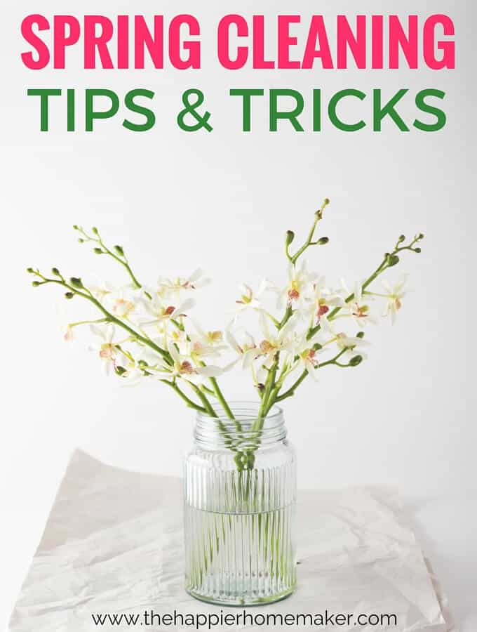 Spring Cleaning Tips & Tricks including a printable Spring Cleaning Schedule