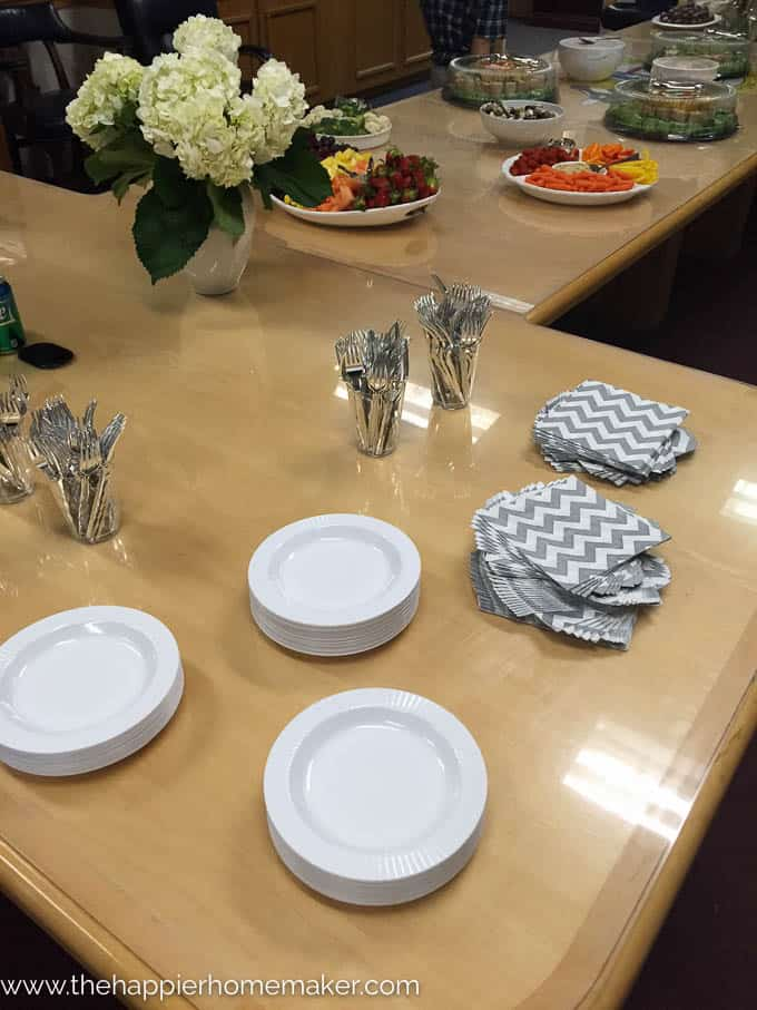 Our military promotion reception-or how to host a crowd on a budget-how I spent less than $500 to feed over 100 people!