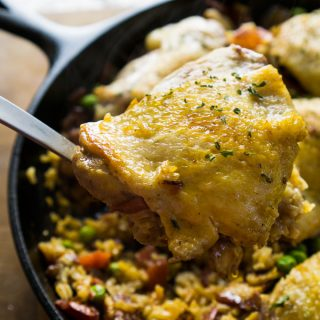 One Skillet Spanish Chicken and Rice
