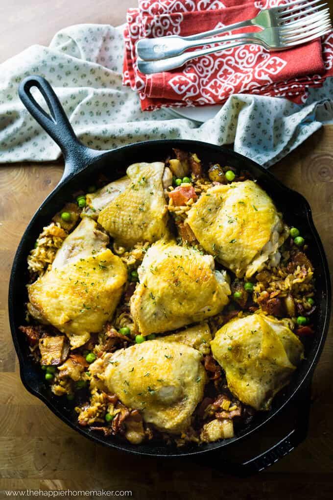 one-skillet-spanish-rice-chicken