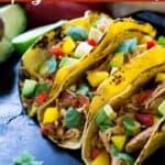 3 spicy chicken soft tacos