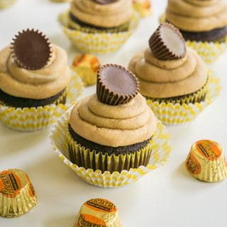 reeses peanut butter cup cupcakes