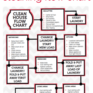 Printable Cleaning Flow Chart
