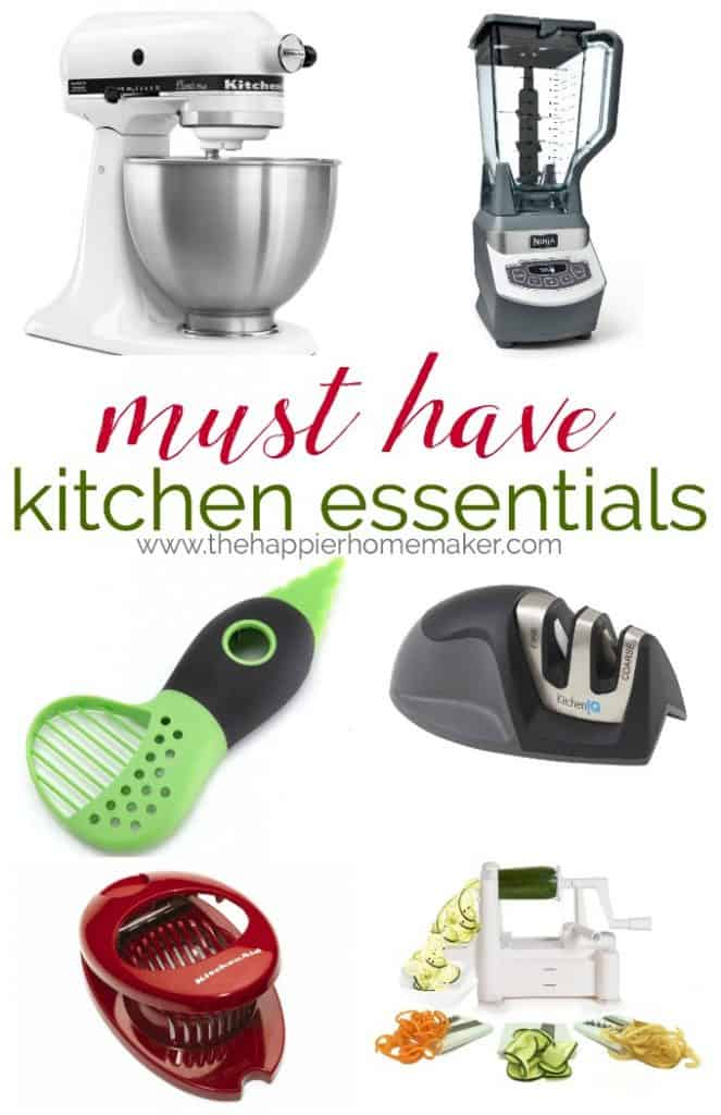The must have kitchen essentials for every home cook-beginner to advanced, these tools will make your cooking easier!