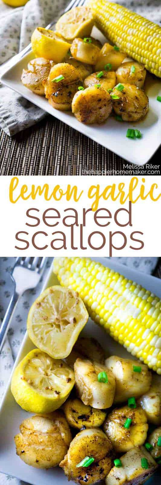 Easy to make Lemon Garlic Seared Scallops are a healthy fast dinner recipe. Seafood doesn't have to be hard to cook!