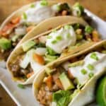 3 baked soft tacos