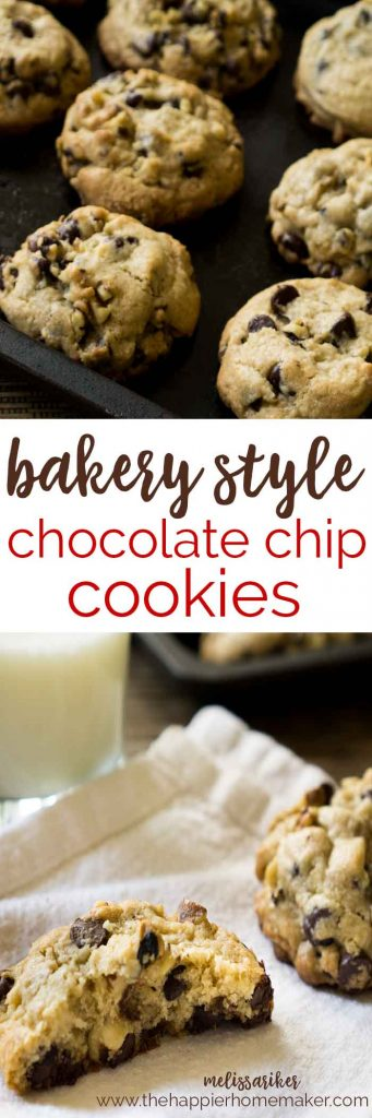 These cookies area amazing!! They are huge, filled with chocolate chips and walnuts, and just like the cookies at my bakery!