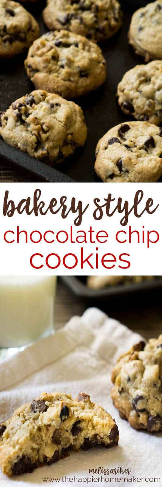 These cookies are amazing!! They are huge, filled with chocolate chips and walnuts, and just like the cookies at my bakery!