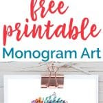 Beautiful free printable monogram art for your home-these would be so pretty in a nursery or gallery wall!