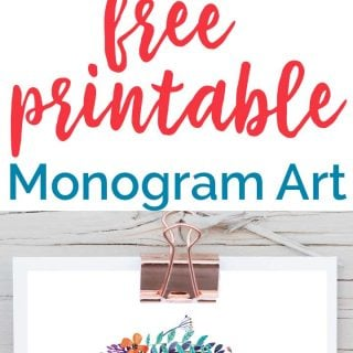 free printable monogram art written over photo of printable