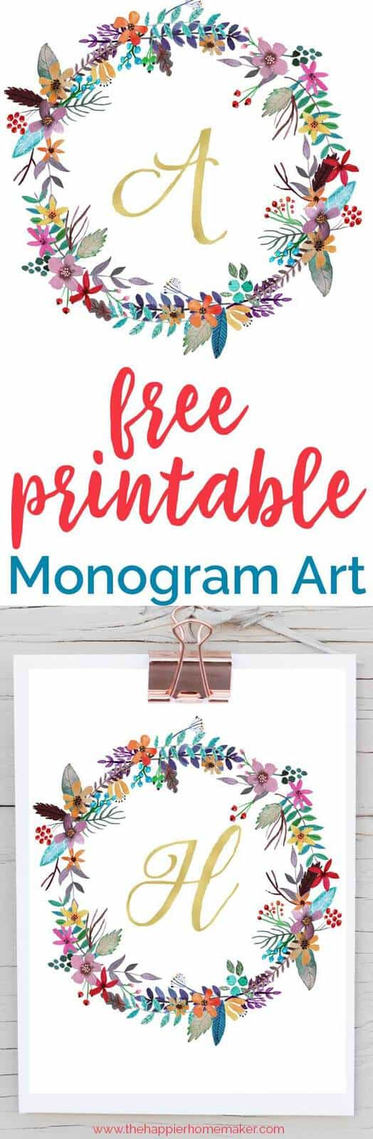 free printable monogram art written over photo of printable