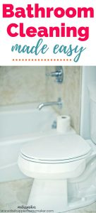 These easy tips and tricks can help you make cleaning your bathroom easier! They definitely helped me!