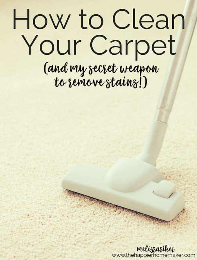 Easily clean carpet stains with Spot Shot-even old stains, no scrubbing required! It's my secret weapon!