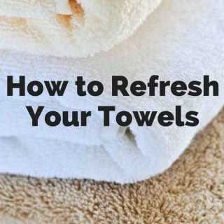 Tired of towels that still have a smell even after you wash them? Or towels that don't seem to be as absorbent as they used to be? Learn how to refresh your towels easily!