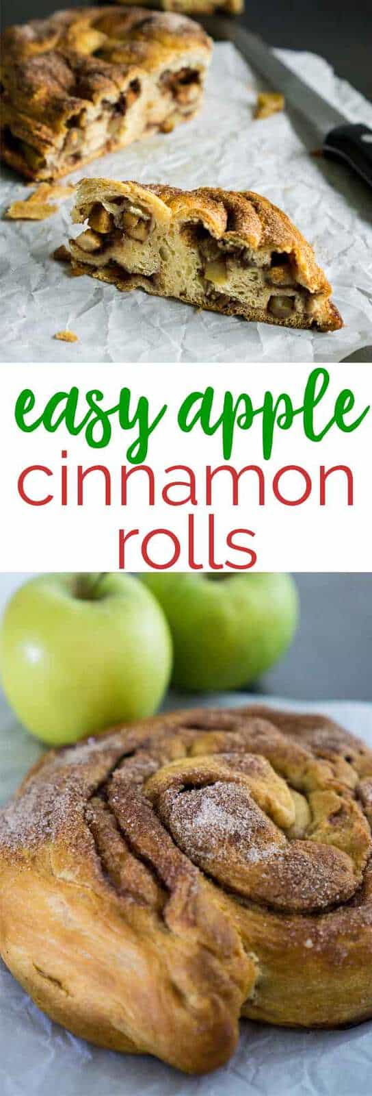 Four ingredients and 5 minutes prep time make this Apple Cinnamon Roll the easiest dessert ever!