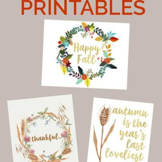 collage of fall printables