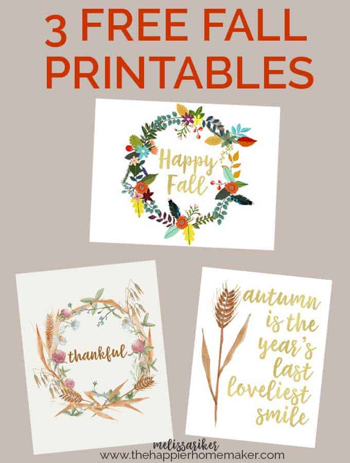 Free fall printables-I love using printables to change up my autumn decor!