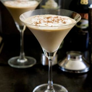 A mudslide latte cocktail