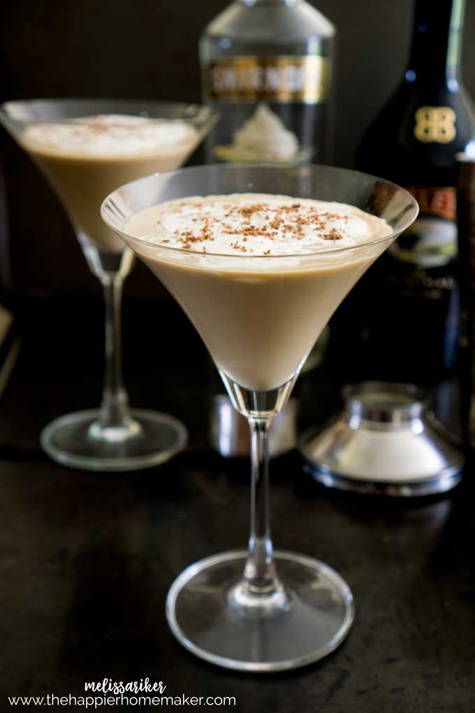 Mudslide Latte Cocktail A smooth, creamy cocktail made with coffee, Bailey's Irish Cream and Whipped Cream flavored vodka-perfect for when the temperatures cool down in the fall and winter and you want a conforting cocktail! I like it with whipped cream and chocolate on top!