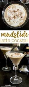 Mudslide Latte Cocktail A smooth, creamy cocktail made with coffee, Bailey's Irish Cream and Whipped Cream flavored vodka-perfect for when the temperatures cool down in the fall and winter and you want a comforting cocktail! I like it with whipped cream and chocolate on top!