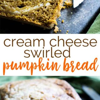 Swirled Cream Cheese Pumpkin Bread