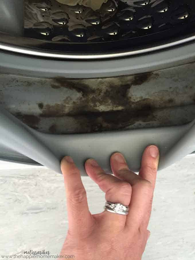 How to Clean a Front Load Washing Machine, including how to remove and prevent mold build up inside the gaskets. Great cleaning tips!