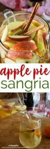 Apple Pie Sangria combines the best flavors of autumn and makes the perfect fall party drink! Apples, oranges, cinnamon with whipped cream vodka and white wine!