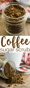 This homemade brown sugar coffee scrub is invigorating for the skin and makes a great DIY gift (especially cute packaged in a little mason jar!)