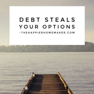 Living with Debt takes away your options in life and prevents you from building wealth.