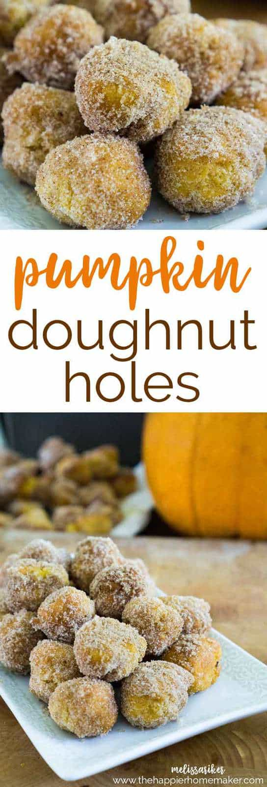 Pumpkin doughnut holes are super easy to make and the perfect fall dessert-ready in less than 30  minutes! No fryer necessary!