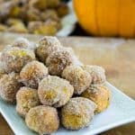Pumpkin doughnut holes are super easy to make and the perfect fall dessert-ready in less than 30 minutes!