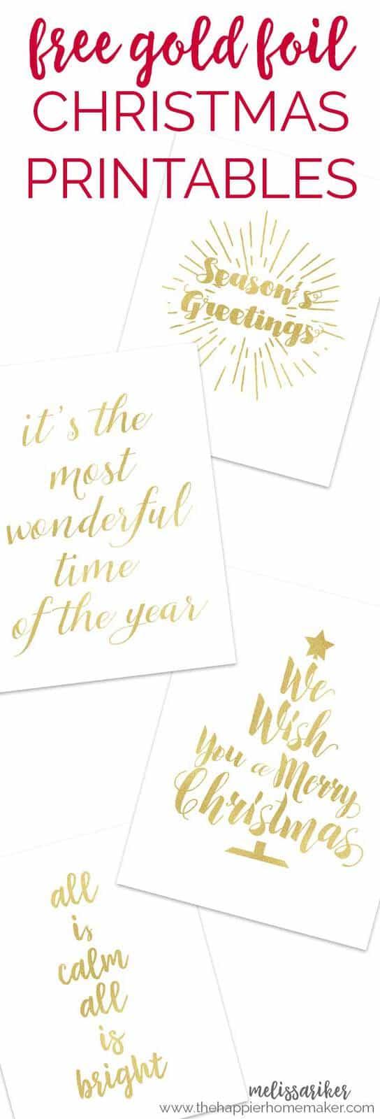 collage of Christmas printables