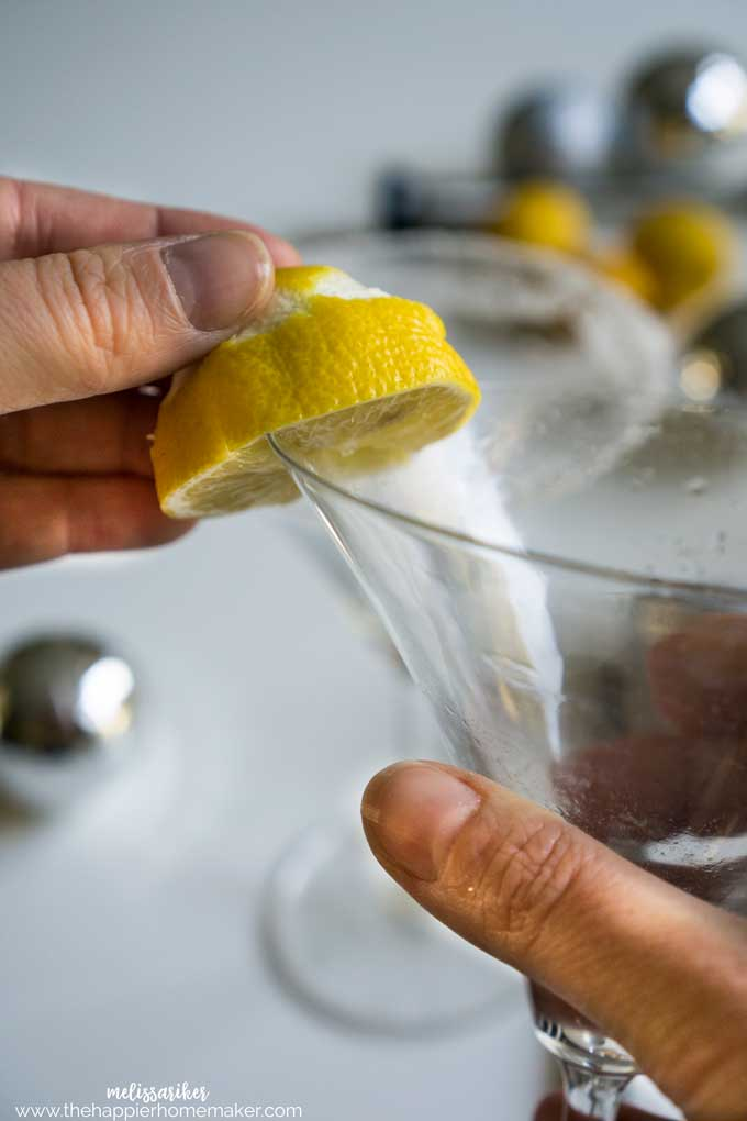 How to rim a Lemon Drop glass with sugar the easy way!