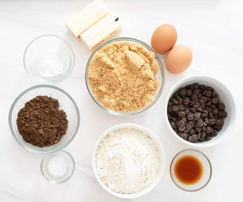 double chocolate cookie ingredients