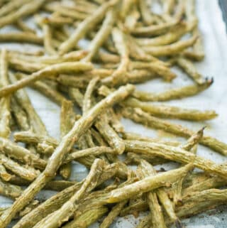 dijon roasted green beans