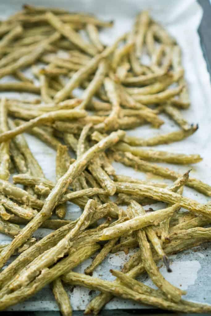 dijon roasted green beans